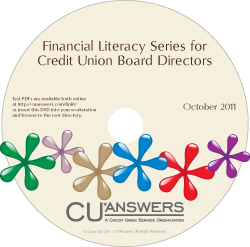 Financial Literacy Series for Credit Union Board Directors